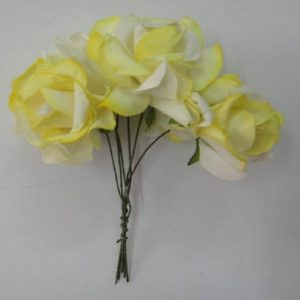 Curly Paper Roses Lemon Yellow