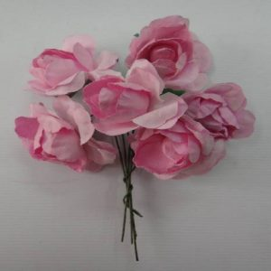 Curly Paper Roses Pink