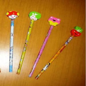 Pencil With Eraser Toppers