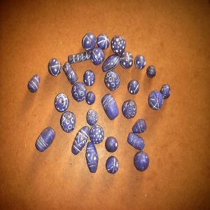 Purple Terracotta Clay Beads