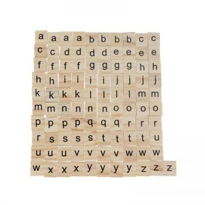Wooden Scrabble Tiles - Small Letters
