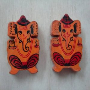 Wooden Painted Ganesh
