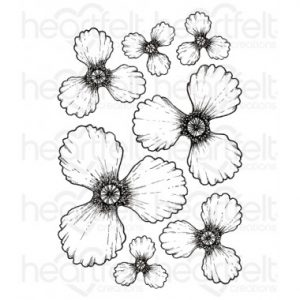 Blazing Poppy Petals Stamp
