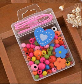 DIY Wooden Beads Jewellery Kit - Heart
