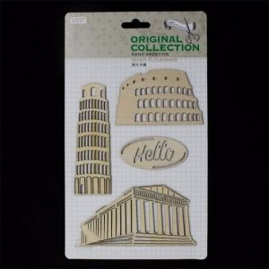 Original Collection Wooden Embellishments Pack - Monuments