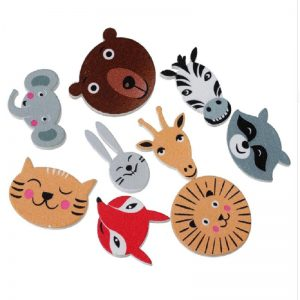Wooden Zoo Animal Faces