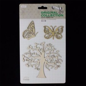 Original Collection Wooden Embellishments Pack - Tree & Butterflies
