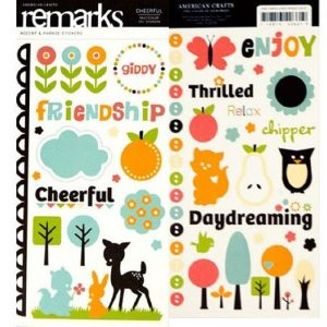 American Crafts Remarks Stickers