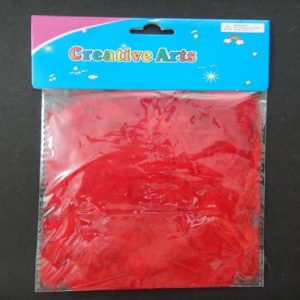 Red Colour Feathers Pack