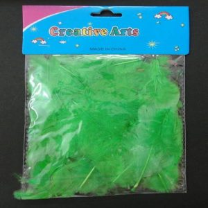 Green Colour Feathers Pack