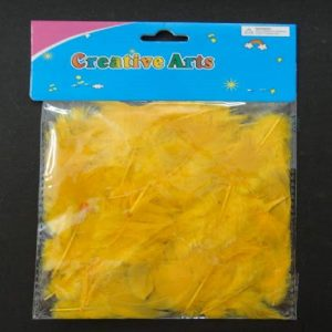 Mustard Yellow Colour Feathers Pack