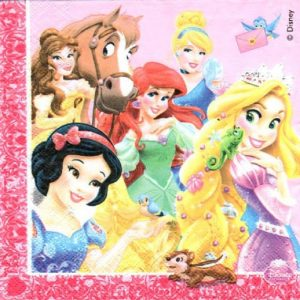 Princesses And Horse Decoupage Napkin