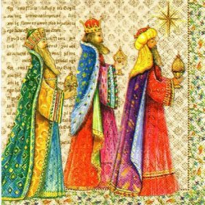 Three Wise Men Decoupage Napkin
