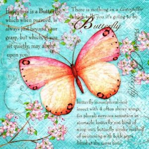 Butterfly Poetry Decoupage Napkin