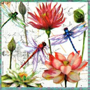 Dragon Fly Decoupage Napkin
