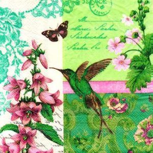 Flying Bird Decoupage Napkin