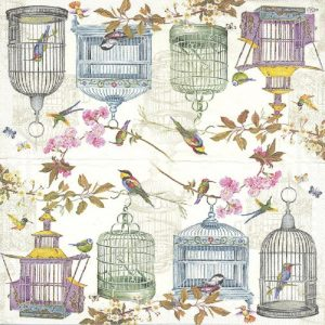 Cages & Birds Decoupage Napkin