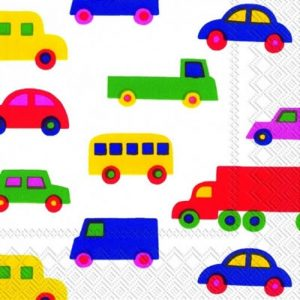 Cars & Trucks Decoupage Napkin