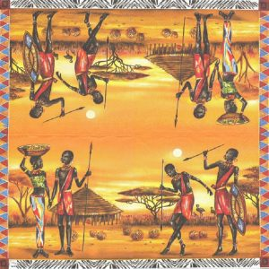 African Tribe Decoupage Napkin