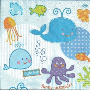 Under The Sea Decoupage Napkin