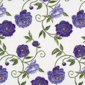 Purple Roses Decoupage Napkin