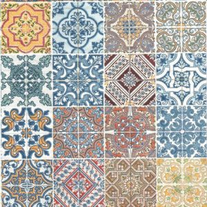 16 Tiles design Decoupage Napkin