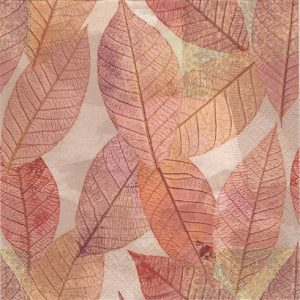 Leaves Decoupage Napkin