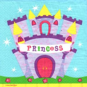 Princess & Castle Decoupage Napkin