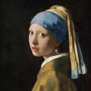 Girl With The Pearl Earring Decoupage Napkin