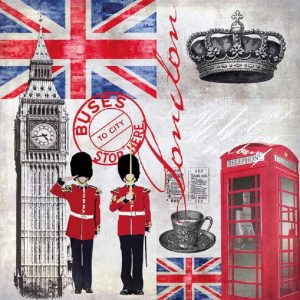 London Decoupage Napkin