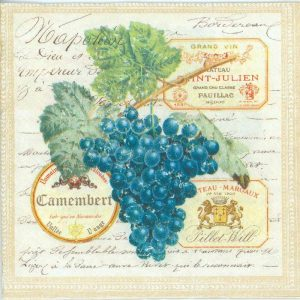Grapes With Leaf Decoupage Napkin