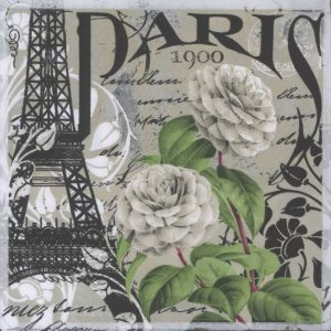 Paris 1900s Decoupage Napkin
