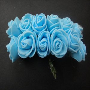 Baby Blue Foam Rose Flowers