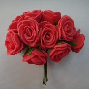 Red Foam Rose Flowers