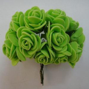 Green Foam Rose Flowers
