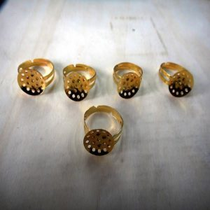 Gold Adjustable Ring Bases