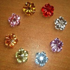 Mixed Colour Ripple Flower Rhinestone
