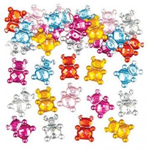 Mixed Colour Teddy Rhinestone