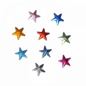 Mixed Colour Rhinestone Star