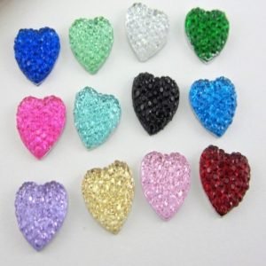 Colorful Acrylic Bling Heart