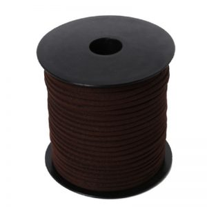 Dark Brown Flat Faux Suede Leather Cord