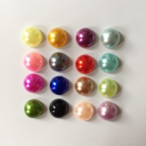 Mixed Colour Half Round Pearl Embellishments