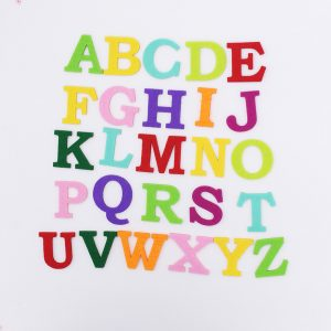 Mixed Color Alphabet Felt Appliques