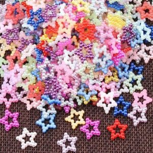 Mixed Colour Pearl Beaded Star