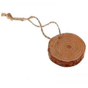 Natural Wooden Slice With Rope