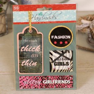 Handmade Retro Style 3D Stickers - Fashion