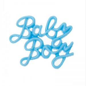 Blue Baby Boy Resin Embellishment
