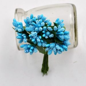 Light Blue Artificial Berry Stamen Bunch