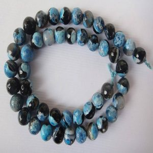Blue With Black Agate Beads