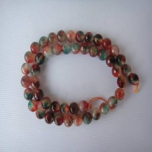 Brown With Green Agate Beads